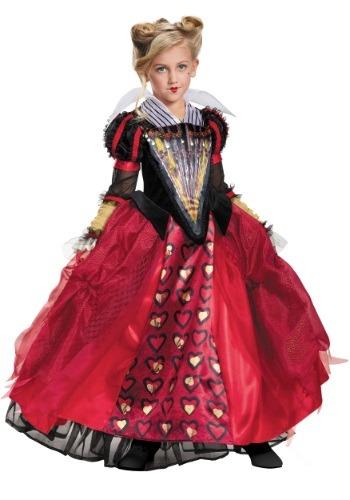 Disfraz infantil de Reina de Corazones deluxe