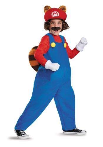 Disfraz infantil deluxe de Mario Mapache