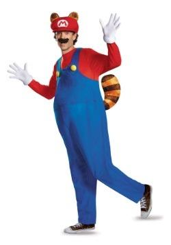 Disfraz de Mapache Mario deluxe para adulto
