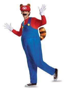 Disfraz de Mapache Mario deluxe para adulto talla extra