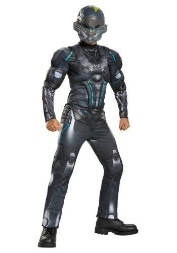 Disfraz con pecho musculoso Halo Spartan Locke para niños