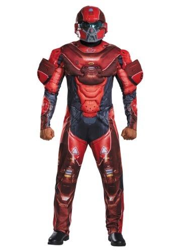 Disfraz de espartano rojo musculoso para adulto