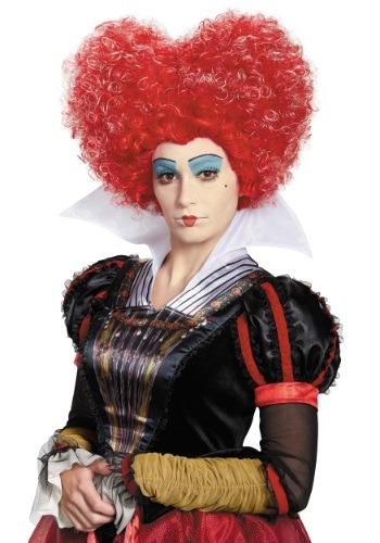 Peluca Reina de Corazones Alice in Wonderland para adulto
