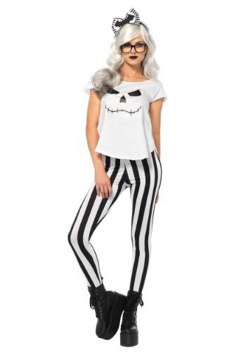 Disfraz de esqueleto hipster para mujer