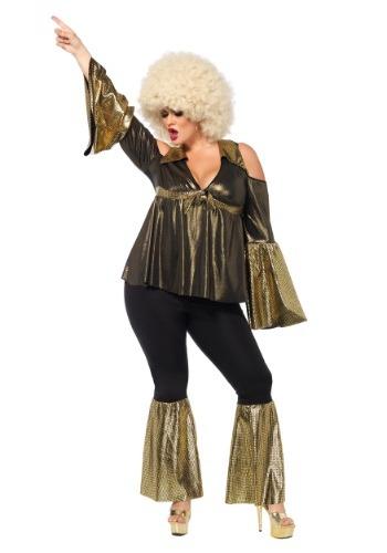 Disfraz de Diva de Disco talla extra