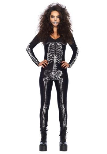 Traje de gato esqueleto Rayos X para mujer