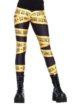 Leggings con cinta de la escena del crimen