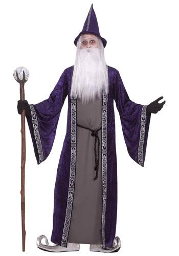 Disfraz de mago morado para adulto