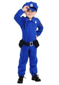 Traje de policía de paño grueso y suave del niño