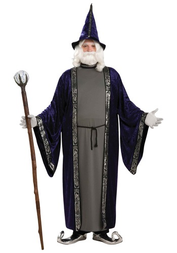 Disfraz de mago talla extra