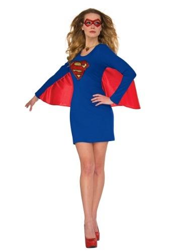 Vestido con capa para mujer de DC Supergirl