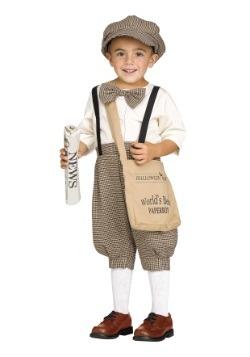 Disfraz de Lil' Newsie para niños pequeños