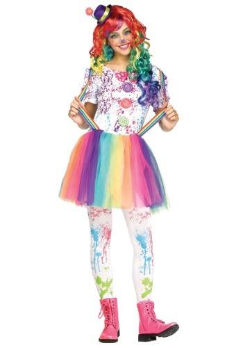 Disfraz de payaso Crazy Color para adolescente