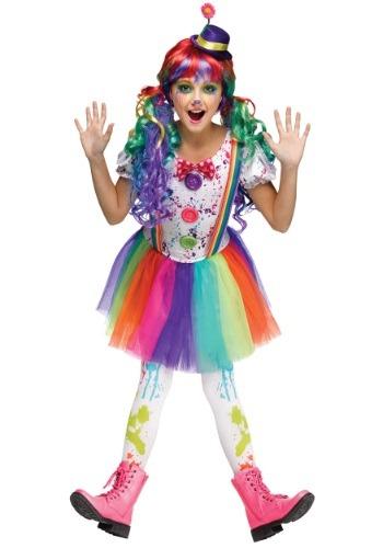 Disfraz de payaso de colores para niñas