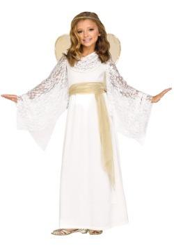 Disfraz de doncella infantil angelical