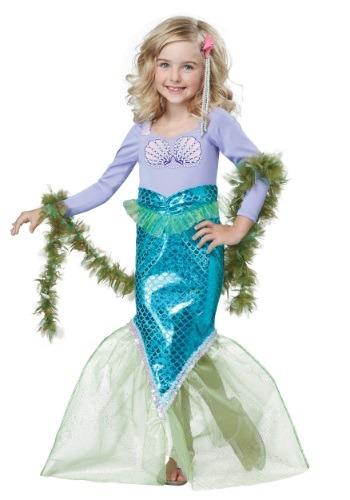 Disfraz de sirena mágica para niños pequeños