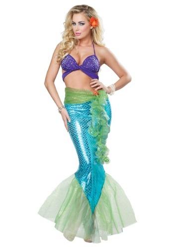 Disfraz de sirena mítica de mujer para adulto