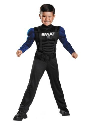 Disfraz musculoso SWAT para niños pequeños
