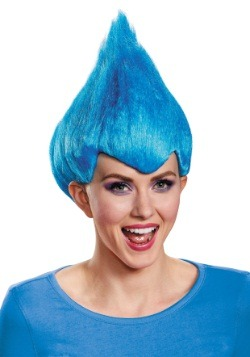 Peluca azul alocada para adulto