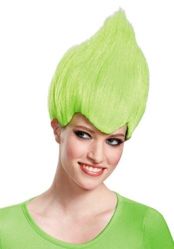 Peluca extravagante para adulto verde