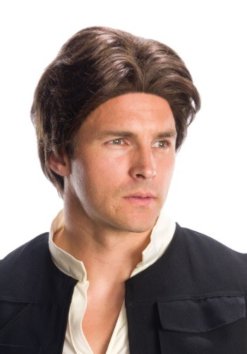 Peluca para adulto de la Guerra de las Galaxias de Han Solo