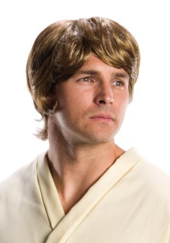 Peluca de Luke Skywalker de la Guerra de las Galaxias adulto