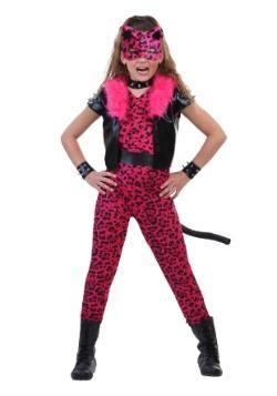 Disfraz de leopardo de fiesta rosa tween