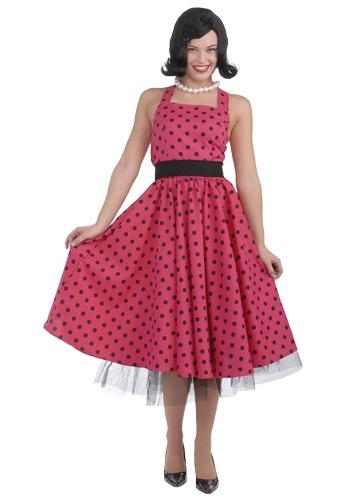 Disfraz de vestido de lunares de los años 50