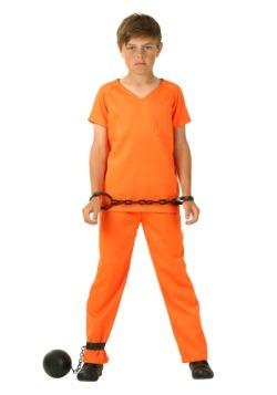 Disfraz de prisionero naranja para niño