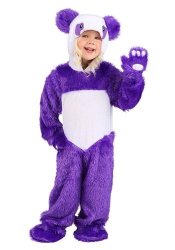 Disfraz de panda morado para niños pequeños