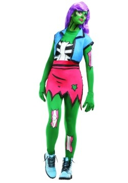 Disfraz de zombie para mujer del arte pop