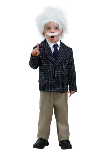 Disfraz de Einstein para niños pequeños