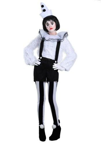 Traje de mujer Vintage Payaso Pierrot