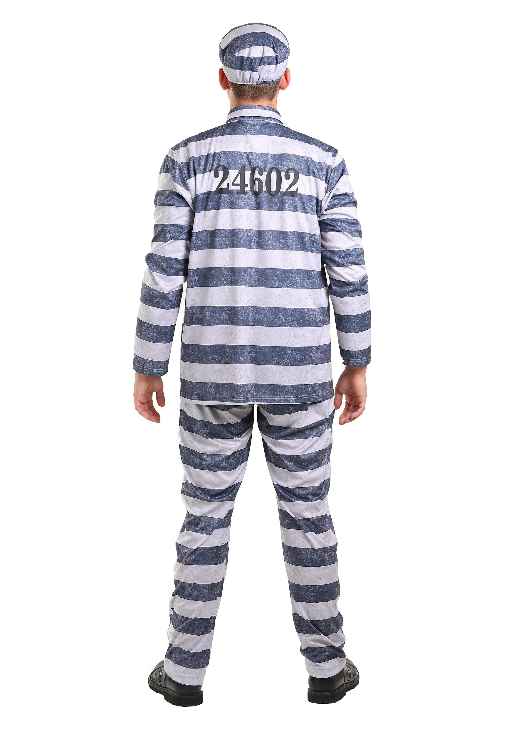 Disfraz de prisionero vintage para hombre talla extra