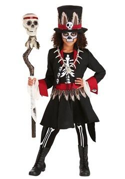 Disfraz para niña de esqueleto vudú