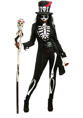 Traje de mujer esqueleto vudú