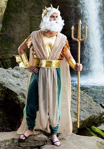 Disfraz de Poseidon Plus Size para hombre