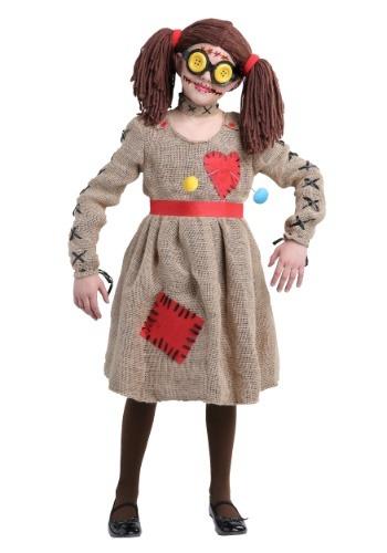 Disfraz de muñeca vudú de yute para nilñas