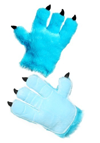 Manos de monstruo azul para adulto