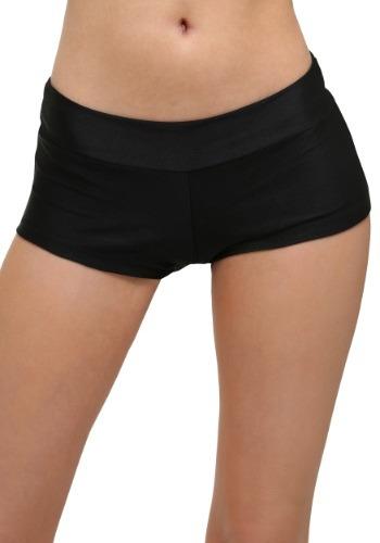 Pantalones cortos de lujo negros talla extra