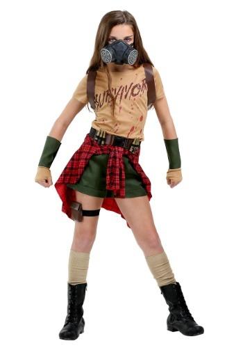 Disfraz de superviviente Zombie para niña