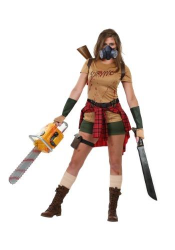 Disfraz de superviviente Zombie para mujer