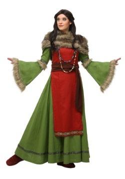 Disfraz de campesina vikinga para mujer