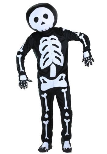 Disfraz de hombre esqueleto de felpa