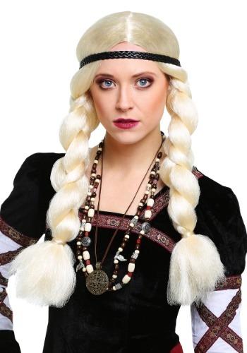 Peluca de vikingo tono rubio