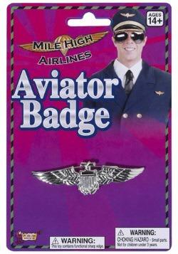 Placa de piloto de aviador