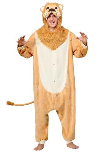 Disfraz de pijama león adulto