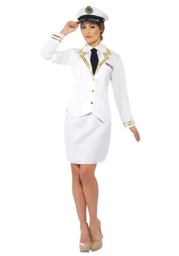 Disfraz de oficial naval talla extra para mujer