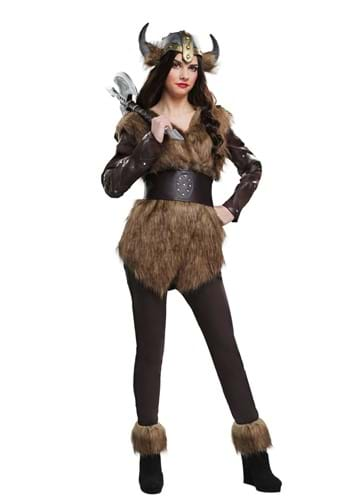 Disfraz de guerrera vikingo para mujer