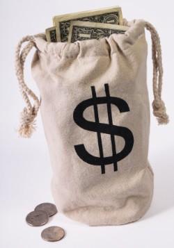 Saco de dinero del banco